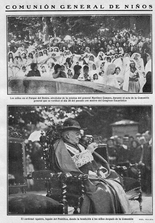 Comunión general de los niños. Blanco y Negro del 2 de Julio de 1911.