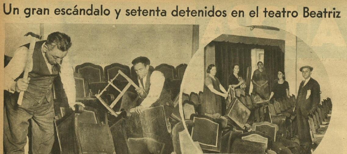 Recorte del diario Ahora. Número 281. 8 de Noviembre de 1931.