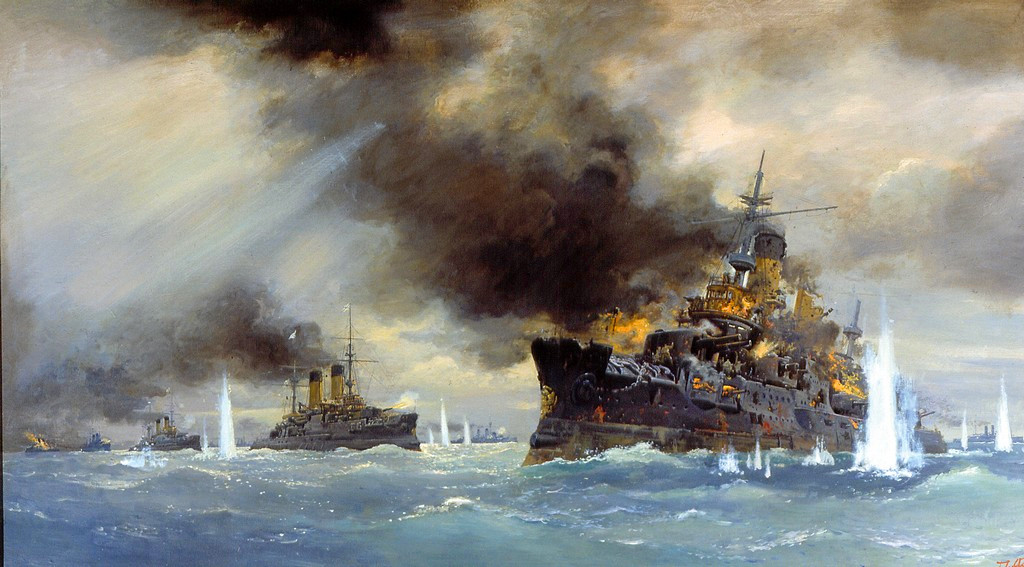 Batalla de Tsushima en 1905.
