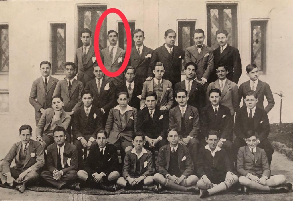 Salvador García-Noblejas en la orla de los bachilleres de letras en 1928.